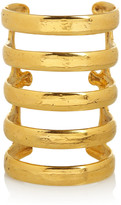 Aurelie Bidermann Esteban 18-karat gold-plated cuff