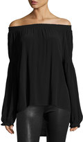 Knot Sisters Atlanta Off-the-Shoulder Top, Black