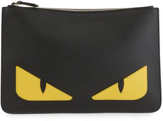 Fendi Bugs leather pouch
