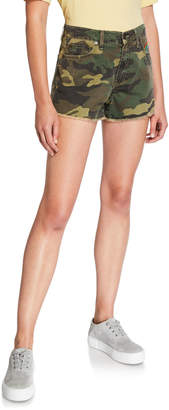 Sundry Rainbow Sun Camo-Print Shorts