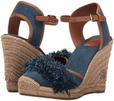 Tory Burch Shaw 90mm Denim Espadrille Women's Shoes