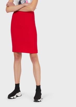 Emporio Armani Pure Double Wool Crepe Pencil Skirt