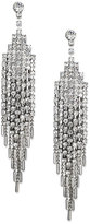 Charter Club Silver-Tone Glass Stone Multi-Chain Drop Earrings