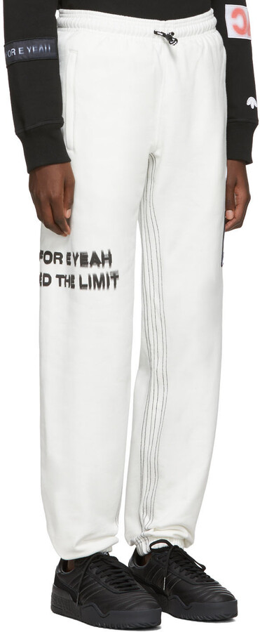 Thumbnail for your product : Adidas Originals By Alexander Wang Off-White Graphic Lounge Pants