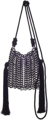 Carolina Santo Domingo Luisella Tassled Black Resin Shoulder Bag