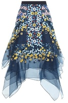 Peter Pilotto Embroidered Organza Silk Skirt