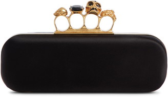 Alexander McQueen Satin Knuckle Clutch