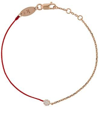 Redline Diamond And 18kt Rose Gold String And Chain Bracelet