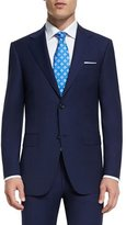 Canali Sienna Contemporary-Fit Solid Two-Piece Travel Suit, Navy