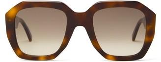 Celine Oversized Round Tortoiseshell-acetate Sunglasses - Tortoiseshell