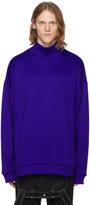 Marques Almeida Blue French Terry Turtleneck