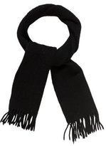 Saint Laurent Fringe Embroidered Scarf