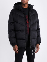 Versace Brand-print shell-down jacket