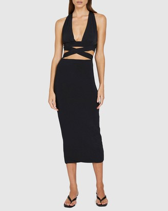 BY JOHNNY. - Women's Black Pencil skirts - Koa Ankle Skirt - Size S at The Iconic