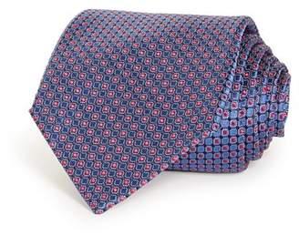 Giorgio Armani Neat Grid Silk Wide Tie