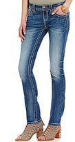 Miss Me Glitz Embellished Pocket Stretch Straight-Leg Jeans