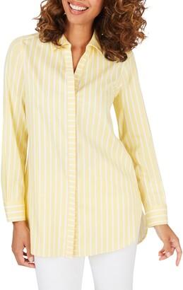 Foxcroft Vera Stripe Non Iron Tunic Shirt