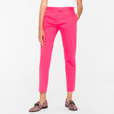 Paul Smith Women's Slim-Fit Fuchsia Stretch-Cotton Chinos