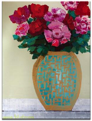 Artist Lane Pattern Vase Canvas Print
