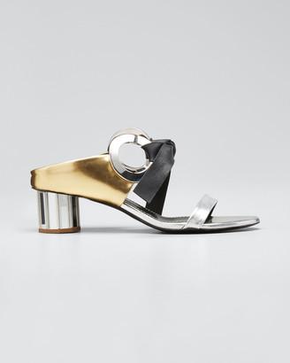 Proenza Schouler Spectra Mixed Metallic Sandals