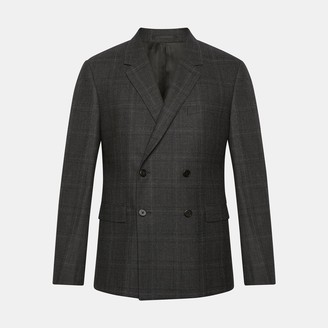 Theory Wool Flannel Check Gansevoort Jacket