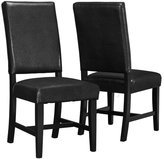 """Candace & Basil DINING CHAIR - 2PCS / 40""""H / BLACK LEATHER-LOOK SEAT"""
