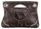 CNC Costume National Logo Stitched Leather Satchel