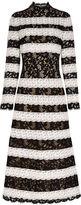 Vilshenko Monochrome Lace Lee Dress