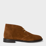 Paul Smith Men's Dark Tan Suede 'Alec' Boots
