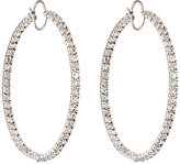 Irene Neuwirth Diamond Collection Women's White Diamond Hoop Earrings