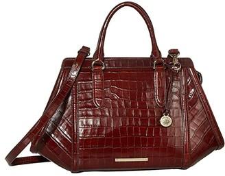 Brahmin Trance Arden Satchel (Cognac) Satchel Handbags