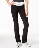 Material Girl Active Juniors' Metallic-Trim Yoga Pants, Only at Macy's
