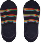 Paul Smith - Striped Stretch Cotton-blend No-show Socks