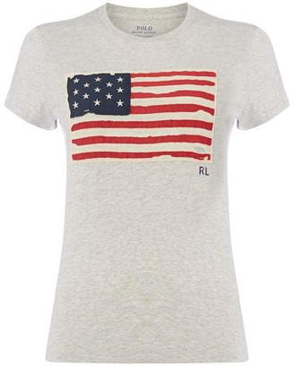 Polo Ralph Lauren Flag Print T-Shirt