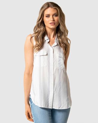 Forever New Nina Stripe Sleeveless Shirt
