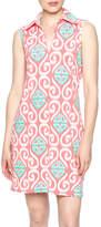 Tracy Negoshian Coral Collared Dress