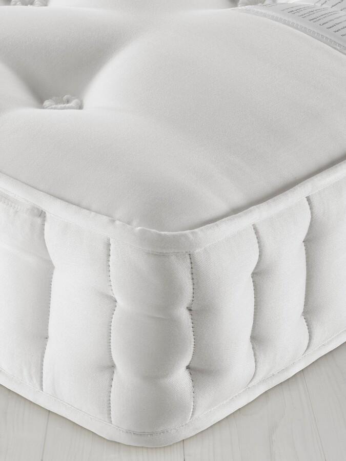 John Lewis & Partners Natural Collection Fleece Wool 8400, King Size, Firm Tension Pocket Spring Zip Link Mattress