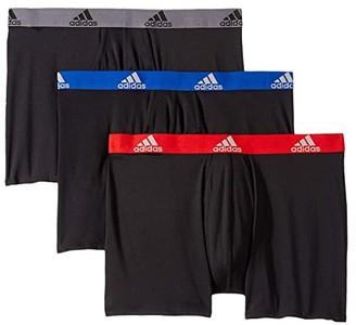 adidas Climalite(r) Boxer Brief 3-Pack (Black/Collegiate Royal Black/Scarlet Black/Onix) Men's Underwear