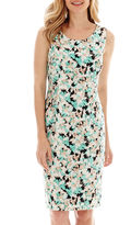 Evan Picone BLACK LABEL BY EVAN-PICONE Black Label by Evan-Picone Sleeveless Print Sheath Dress