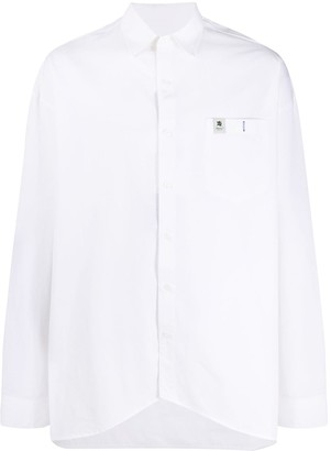 Ader Error Logo-Patch Oversized Shirt