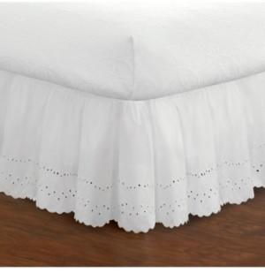 Fresh Ideas Ruffled Eyelet Twin Bed Skirt Bedding