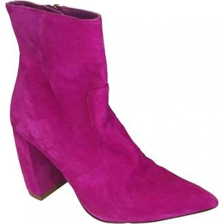 Uterque Pink Leather Ankle boots