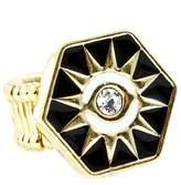 Nine Hexagon Sun & Eye Ring