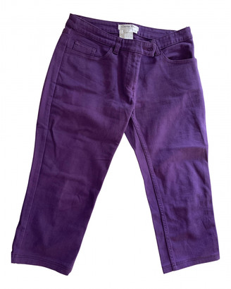 Christian Dior Purple Cotton Jeans