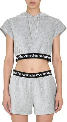 T by Alexander Wang Cropped Sweatshirt