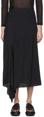 Y's Ys Black Flare Skirt