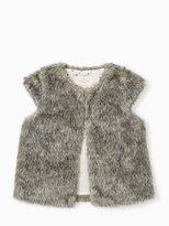 Kate Spade Girls faux fur vest
