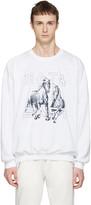 Baja East White Be Sweatshirt