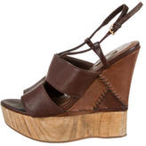 Miu Miu Leather Platform Wedges