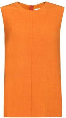 Victoria Victoria Beckham Sleeveless wool-blend top